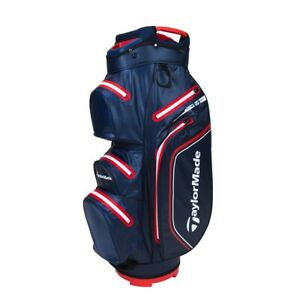 Taylormade Strom Dry Waterproof Cart Bag 2021 - Navy/Red