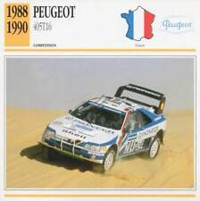 1988-1990 PEUGEOT 405 T16 Racing Classic Car Photo/Info Maxi Card