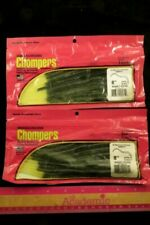 """2 Packs Chompers 8"""" Shaky Worm Ng8W10 22 Watermelon-Chartreuse 10 Count Lures"""