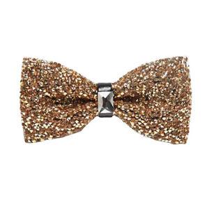 Men Fashion Luxury Sparkling Crystal Bowties Noble Shiny Rhinestone Bow Ties