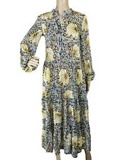 WILLIAM MORRIS & CO x H&M Size 0 EUR 32 Maxi Tiered Dress Blue Beige
