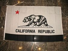 3x5 Black and White California Republic Protest Rights Flag 3'x5' Banner grommet