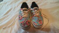 Rare HTF VANS STAR WARS MEN'S YODA ALOHA BLUE FLORAL CANVAS SHOES - US SIZE 5.