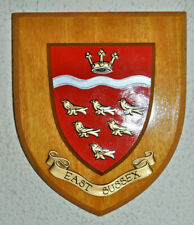 East Sussex wall plaque shield crest coat of arms