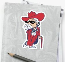 """Ole Miss Colonel Reb Rebels Color Decal Sticker Shades Glasses - 4"""" x 2.5"""""""