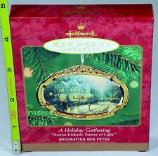 Porcelain Hallmark Keepsake Ornament - A Holiday Gathering Thomas Kinkade - 2000