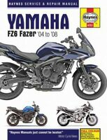 Haynes Yamaha FZ6 Fazer '04 to '08 Service and Repair Manual, Paperback by Ma...