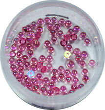 Halbperlen 1.2mm  ca. 50 Stk. Pearl Glitzer Pearl Nail Art Violett #00572-03