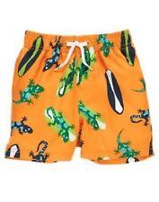 Gymboree Baby Boy 3-6 Months Orange Swimsuit Surfboards & Lizards Gecko Print