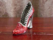 Miniature Pewter Red Sparkle Shoe Sculpture Figurine