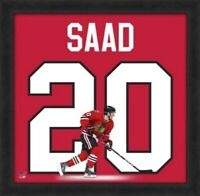 "Brandon Saad Chicago Blackhawks NHL Uniframe Photo (Size: 20"" x 20"") Framed"