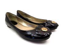 Anne Klein Womens Size 8 Black Flower Flats Ballet Slip-On Slides Loafers Shoes