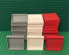 Lego Bulk 10 Red 1x6x5 Panel,10 White And 10 Light Bluish Gray (30 Pieces Total)