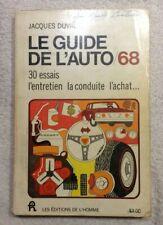Guide de l'Auto 1968 Original - Jacques Duval