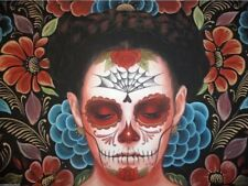 Sylvia Ji Art Print Flor Eterno LE Of 50 Muertos Day of the Dead Skull Low Brow