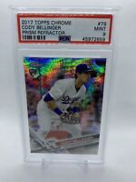 Cody Bellinger 2017 Topps Chrome Prism Refractor Rookie #79 Dodgers PSA Mint 9