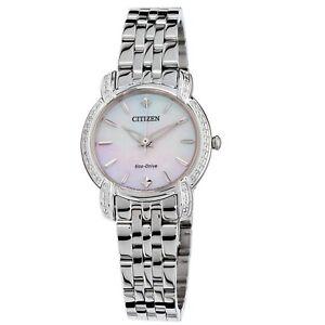 Citizen EM0690-50D Women's Jolie White Mother of Pearl Eco-drive Watch