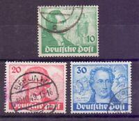 Berlin 1949 - Goethe - MiNr. 61/63 rund gestempelt - Michel 180,00 € (651)