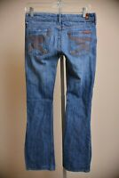 7 For All Mankind Flynt Medium Wash Blue Jeans Mid Rise Boot Cut Women's size 26