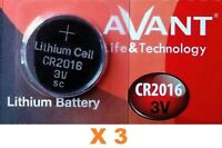 Pila AVANT CR2016 - Lithium Battery 3V - Calidad Boton Litio - Pack De 3 Pilas