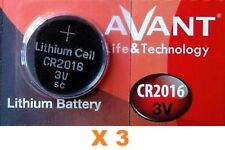 Pila AVANT CR2016 - Lithium Battery 3V - Calidad Boton Litio - Pack De 3 Pilas