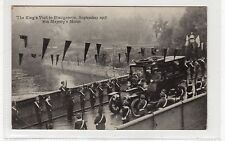 THE KING'S VISIT TO BLAIRGOWRIE, 1908: Perthshire postcard (C25765)