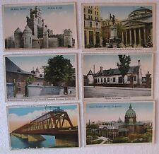 Montreal (6 Antique Postcards) Ice Palace,St Sulpice Seminary, Victoria Bridge +
