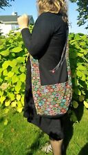 Cross body bag Hand made with button closure One pocket on outside one inside