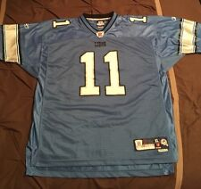 New Detroit Lions Jersey XL Reebok NFL Roy Williams Blue #11