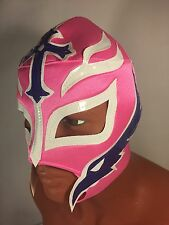 REY MISTERIO WRESTLING-LUCHADOR MASK! BOOYAKA 619! GREAT FOR HALLOWEEN!HOT PINK!