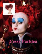 Queen of Heart Burgundy Wigs Alice in Wonderlands Disney Costume Wigs Accessory