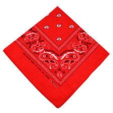 2, 6, or 12 pcs Cotton Paisley Bandana Double Sided Head Wrap Scarf Handkerchief