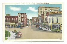 JOHNSON CITY TN Main Street Looking East, Autos, Store Fronts