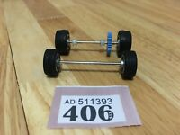 Scalextric Car Spares Mercedes CLK LM No1  Front & Rear Axles With Wheels Lot406