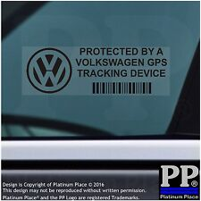 5 x Volkswagen GPS Tracking Device Security BLACK Stickers-Car Alarm Tracker VW