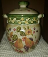 "Certified International LA TOSCANA 6 1/2"" Small Canister by Pamela Gladding EUC"