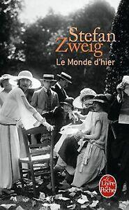 Le monde d'hier : Souvenirs d'un européen de Stefan Zweig | Livre | état bon