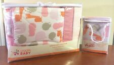 Giggle Baby 3pc Crib Bedding Set w/ Changing Pad (Jungle Soup ~ Pink) New!