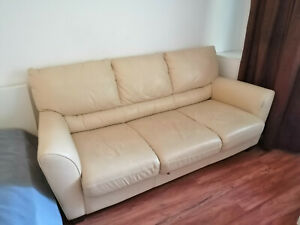 3 er IKEA Echtleder Sofa Couch mit Schlaffunktion echt Leder Schlafsofa