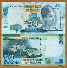 Malawi, 50 Kwacha, 2016, Pick 58 (58c), UNC > Elephant