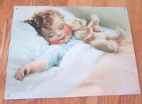 """""""Happy Dreams"""" Bessie Gutmann Tin Picture! Very Good Color!  351*"""