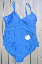 NEW Womens Swimsuit Size 20 Marine Blue Layered Powermesh Design Slims-Trims NWT