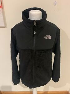 Girls Black The North Face Fluffy Zip Fleece Jacket - Size L (Age 14 / 16) K17