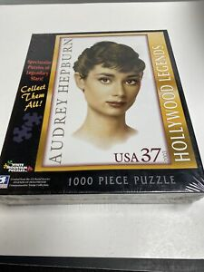Audrey Hepburn 1000 Pc Puzzle Hollywood Legends Commemorative Stamp Collect A2