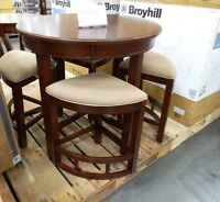 Broyhill Lenoir 5-Piece Solid Wood Constructed Counter Height Dining Table Set