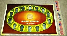 RARE INDIANA UNIVERSITY HOOSIERS 1975-76 MEN'S BB TEAM POSTER - NATIONAL CHAMPS!