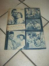 FILM MAGAZINE,1947,CASABLANCA HUMPHREY BOGART,INGRID BERGMAN,M.CURTIZ