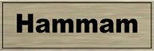 Plaque de porte aluminium brossé Signalétique de porte- Hammam