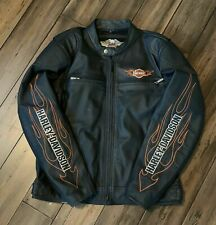 Giacca pelle Harley Davidson Leather Bar Shield Flames 98000-10VM M/L Giubbotto