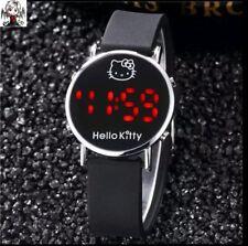 Reloj digital Hello Kitty Negro + regalo pendientes